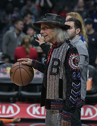 March 8, 2019 - Los Angeles, California, United States of America - James Goldstein with a basketball at the NBA game between the Los Angeles Clippers and the Oklahoma Thunder on Friday March 8, 2019 at the Staples Center in Los Angeles, California. JAVIER ROJAS/PI (Credit Image: © Prensa Internacional via ZUMA Wire)