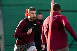 LIVERPOOL, ENGLAND - Monday, February 18, 2019: Liverpool's captain Jordan Henderson during a training session at Melwood ahead of the UEFA Champions League Round of 16 1st Leg match between Liverpool FC and FC Bayern München. (Pic by Paul Greenwood/Propaganda)