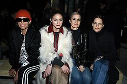 Olivia Palermo,Maria Grazia Chiuri and Rachele Regini attend the Giambattista Valli Ready to wear Fall/Winter 2018-19 at Palais de Tokyo in Paris, France on March 5, 2018. Photo by Laurent Zabulon/ABACAPRESS.COM