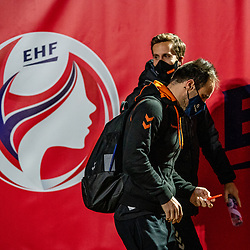 Dutch coach Emmanuel Mayonnade on his way to training. The match during the first round of the European Championship handball against Serbia has been postponed for one day due to a corona case at the Serbian team on December 4, 2020 in Kolding