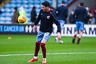 Adam Hammill of Scunthorpe United (47) warming up during the EFL Sky Bet League 1 match between Scunthorpe United and Coventry City at Glanford Park, Scunthorpe, England on 5 January 2019.