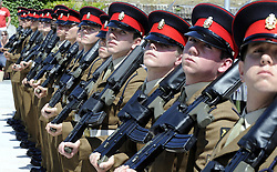© Licensed to London News Pictures. 17/01/12. FILE PICTURE The MOD has announced Up to 2,900 Army, 1,000 RAF and 300 Royal Navy staff to be made redundant in latest UK defence cuts. 19/07/2011. Members of the British Army marching through a Kent town for the first time in 40 years today, 19 July 2011. The 2nd Battalion The Princess of Wales' Royal Regiment is celebrating being awarded the freedom of the borough by marching through Gravesend. Gravesham Borough Council said the Army last marched through the town to mark the closure of Milton Barracks on 30 May 1969. Please see special instructions..Picture credit should read Grant Falvey/LNP..