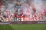 FUSSBALL: 2. Bundesliga, FC St. Pauli . 1. FC Koeln 3:5 Hamburg, 02.09.2018<br /> Koeln-Fans<br /> © Torsten Helmke