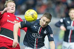 Falkirk's John Baird. Falkirk 1 v 1 Ayr United, Scottish Championship game played 14/1/2017at The Falkirk Stadium .