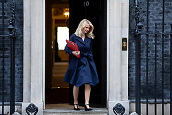 © Licensed to London News Pictures. 16/10/2018. London, UK. Secretary of State for Work and Pensions Esther McVey leaves 10 Downing Street after the Cabinet meeting. Photo credit: Rob Pinney/LNP