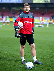 Charlton Athletic goalkeeper Dillon Phillips players warming up before the game