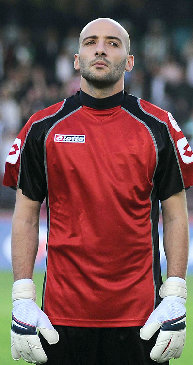 Konyaspor's goalkeeper Haluk TANRISEVEN during their Play Off Second leg match at AliSamiYen Stadium in Istanbul Turkey on Thursday, 20 May 2010. Photo by TURKPIX