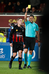 (L-R) Jinty Caenepeel of Excelsior, referee Jeroen Manschot during the Dutch Eredivisie match between sbv Excelsior Rotterdam and PEC Zwolle at Van Donge & De Roo stadium on December 09, 2017 in Rotterdam, The Netherlands