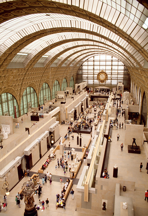 The Musée d'Orsay, the former Gare d'Orsay, Where is housed the largest collection of impressionist masterpieces in the world