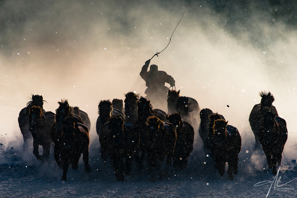 Inner Mongolia horseman engulfed by mist in a freezing winter's morning. Grand Prize and People Category Winning Photo of 2016 National Geographic Travel Photographer of the Year Contest