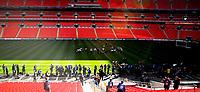 Photo: Alan Crowhurst.<br />England training session at Wembley Stadium. 21/03/2007. Training on the pitch.