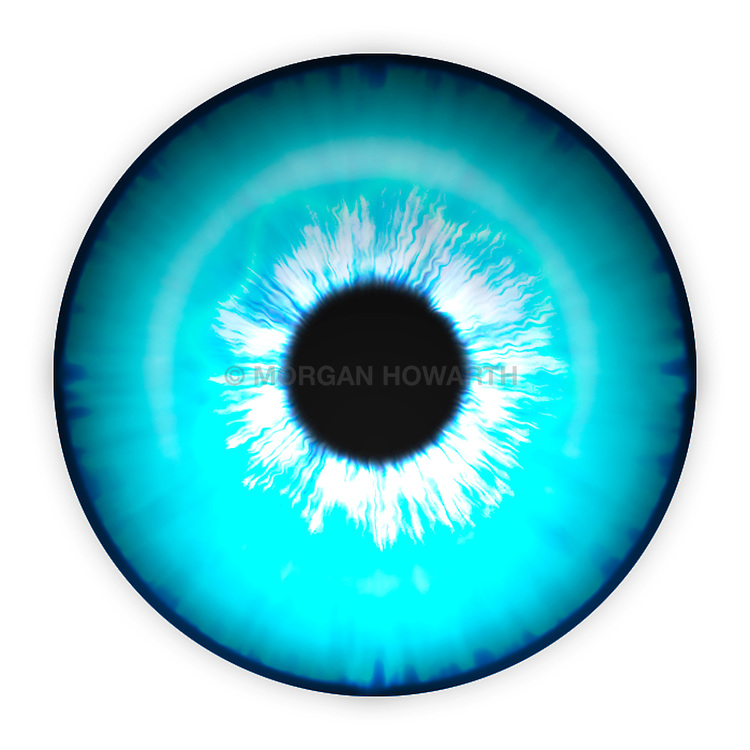 Turquoise eye iris eye iris eye iris