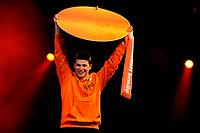 13-02-2010 schaatsen olympische huldiging hhh  / In het Holland Heineken Huis werd Sven Kramer gehuldigd door noc nsf voorzitter erica terpstra