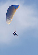 Ellenville, NY - A paraglider soars in the sky above Ellenville on May 30, 2009.