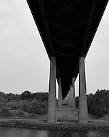 Bridge over the Kiel Canal. Image taken with a Leica X2 camera (ISO 1100, 24 mm, f/5.6, 1/1500 sec). Transiting the Kiel Canal in Germany on the MV Explorer. Semester at Sea Spring 2013 Enrichment Voyage.
