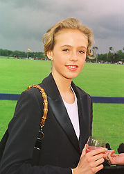 LADY ALEXANDRA SPENCER-CHURCHILL daughter of the Duke of Marlborough, at a polo match in Berkshire on 14th June 1998.MII 132