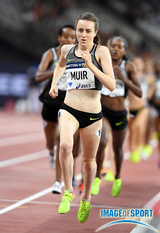 Laura Muir (GBR) wins the women's 1,500m in 3:55.22 in the Meeting de Paris during a IAAF Diamond League track and field meet at Stade de France in Saint-Denis, France on Saturday, Aug. 28, 2016. Photo by Jiro Mochizuki
