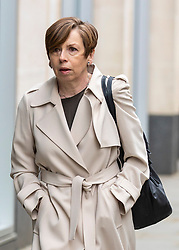 © Licensed to London News Pictures. 23/04/2018. London, UK. Fran Unsworth, Director of News and Current Affairs at the BBC, arrives at the Rolls Building of the High Court in London where Sir Cliff Richard is claiming damages against the BBC for loss of earnings. The 77-year-old singer is suing the corporation after his home in Sunningdale, Berkshire was raided following allegations of sexual assault made to Metropolitan Police. Photo credit: Rob Pinney/LNP
