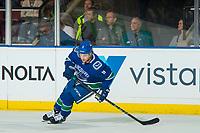 KELOWNA, BC - SEPTEMBER 29:  Brendan Leipsic #9 of the Vancouver Canucks skates against the Arizona Coyotes at Prospera Place on September 29, 2018 in Kelowna, Canada. (Photo by Marissa Baecker/NHLI via Getty Images)  *** Local Caption *** Brendan Leipsic