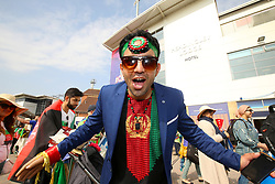 An Afghanistan fan ahead of the ICC Cricket World Cup group stage match at Headingley, Leeds.