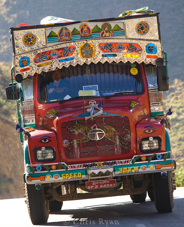 Cargo truck ready for the Himalayas