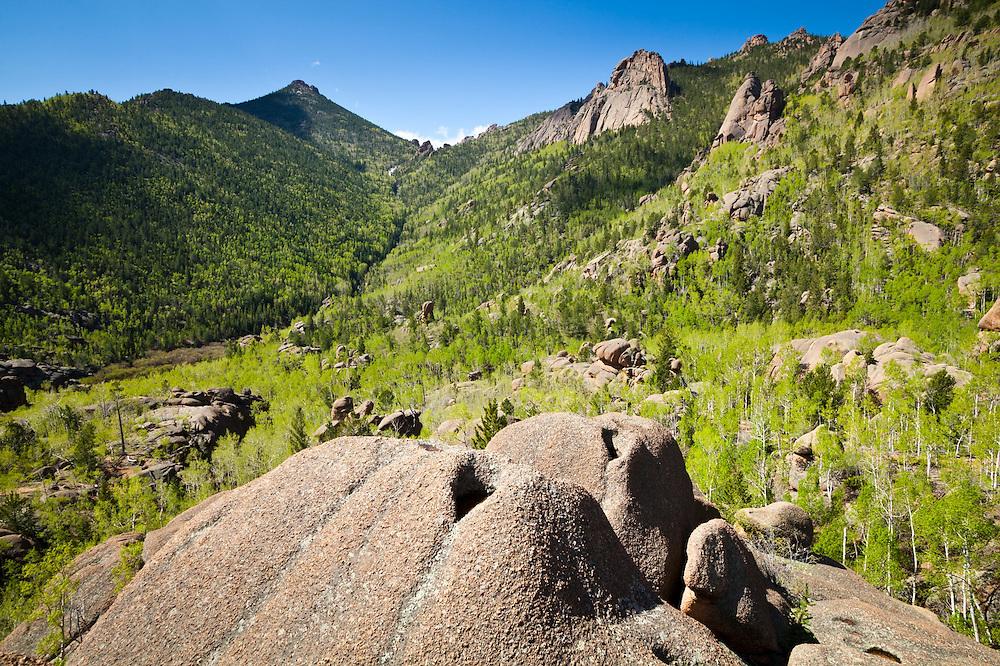 Granite rock formations, Lost Creek Wilderness, Colorado.
