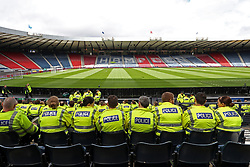 A general view of police presence inside Hampden Park before the 2018 FIFA World Cup qualifying, Group F match at Hampden Park, Glasgow.