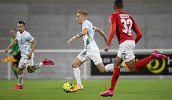 Lucas Haren (FC Helsingør) under kampen i 1. Division mellem FC Helsingør og Silkeborg IF den 11. september 2020 på Helsingør Stadion (Foto: Claus Birch).
