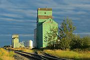 Old grain elevators on the Canadian Prairie<br /> Sexsmith<br /> Alberta<br /> Canada