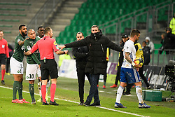 February 13, 2019 - Saint Etienne, France - THIERRY LAUREY (ENTRAINEUR STRASBOURG) - 10 BENJAMIN CORGNET (STRA) - 06 JEREMY GRIMM (STRA) - ALTERCATION (Credit Image: © Panoramic via ZUMA Press)
