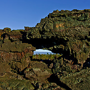 Arch formed from lava from an old eruption.