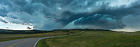 This storm was at my heels, but I had to make a quick stop for this view near Whitewood before getting on I-90. A tornado warning was issued a few minutes later.