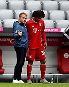 Hansi Flick Trainer head coach von FC Bayern Muenchen mit Joshua Zirkzee #35 von FC Bayern  substitute During the Bayern Munich vs SC Freiburg Bundesliga match  at Allianz Arena, Munich, Germany on 20 June 2020.