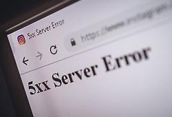 THEMENBILD - 5xx Server Error beim Besuch der Instagram Webseite in einem Chrome Browser, aufgenommen am 03. Oktober 2018 in Österreich // 5xx Server Error when visiting the Instagram website in a Chrome browser, Austria on 2018/10/03. EXPA Pictures © 2018, PhotoCredit: EXPA/ JFK