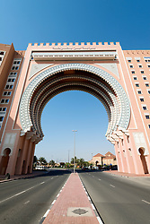 Gate building at Ibn Battuta shopping mall in Dubai United Arab Emirates