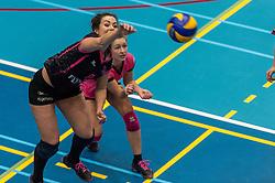 09-04-2016 NED: SV Dynamo - Flamingo's 56, Apeldoorn<br /> Flamingo's doet een goede stap naar het kampioenschap in de Topdivisie. Dynamo wordt met 3-0 verslagen / Shannon Gerhardt #8 of Flamingo