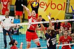 20170524 NED: 2018 FIVB Volleyball World Championship qualification, Koog aan de Zaan<br />Nicolai Grabmuller (15) of Austria<br />©2017-FotoHoogendoorn.nl / Pim Waslander