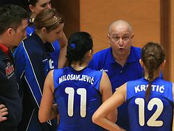 Coach of Nova Gorica Lorenzo Sparello at 1st match of finals of 1st DOL women volleyball league between OK Hit Nova Gorica and OK Nova KBM Branik, Maribor played in OS Milojke Strukelj, on April 8, 2009, in Nova Gorica, Slovenia. Nova KBM Branik won 3:1. (Photo by Vid Ponikvar / Sportida)