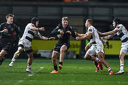 Tyler Morgan of Dragons in action during todays match<br /> <br /> Photographer Craig Thomas/Replay Images<br /> <br /> Guinness PRO14 Round 7 - Dragons v Zebre - Saturday 30th November 2019 - Rodney Parade - Newport<br /> <br /> World Copyright © Replay Images . All rights reserved. info@replayimages.co.uk - http://replayimages.co.uk