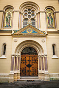 Saint Catherine Church in old town Gradec, Zagreb, Croatia