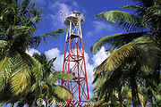 lighthouse, Northern Two Cayes, Lighthouse Reef Atoll, Belize, Central America ( Caribbean Sea )