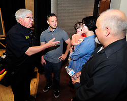 Former Bethlehem Township paramedic AJ Heightman reunites with the Barron Family including Rodney Barron, II (center) who Heightman cared for as a premature baby 27 years ago on April  23, 2017, in Bethlehem Township. Heightman has not seen Barron since he assisted in his care when Barron was born prematurely at home 27 years ago. (Chris Post | lehighvalleylive.com contributor)