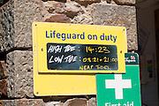 Chapel Porth Tide Sign