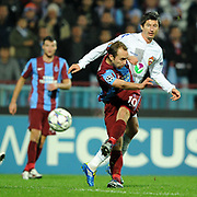 Trabzonspor's Adrian MIERZEJEWSKI (F) during their UEFA Champions League group stage matchday 4 soccer match Trabzonspor between CSKA Moskva at the Avni Aker Stadium at Trabzon Turkey on Wednesday, 02 November 2011. Photo by TURKPIX