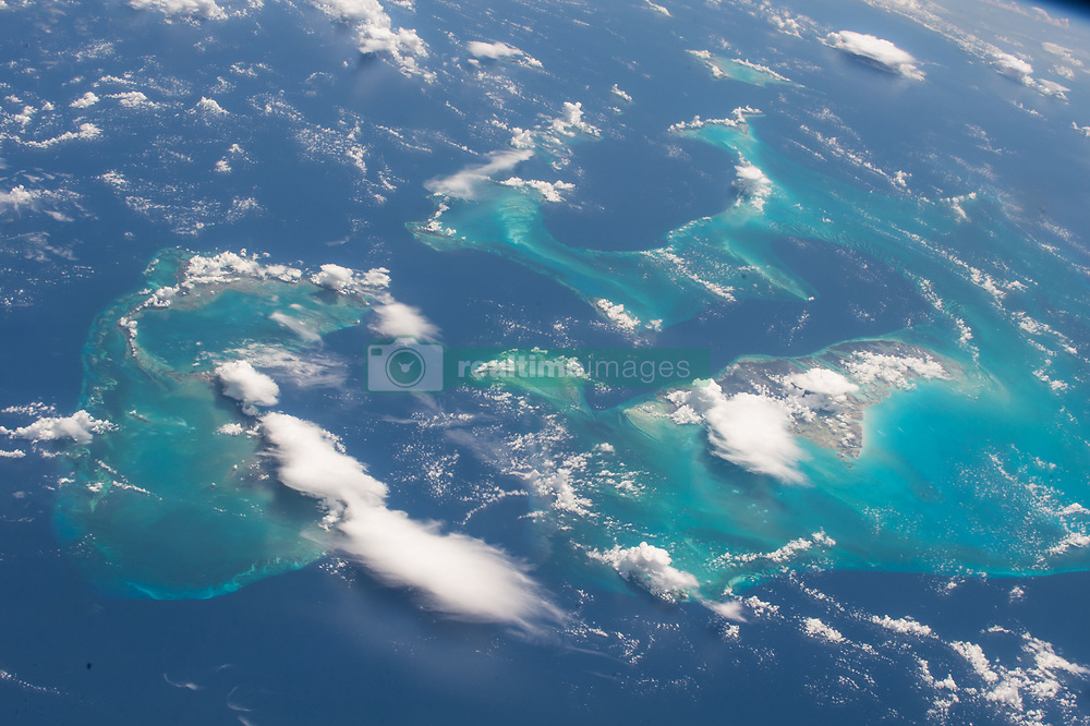 Aug 16, 2017 - Bahamas - Image Released Today: One of the most recognizable points on the Earth for astronauts to photograph is the Bahamas, captured in striking images many times from the vantage point of the International Space Station. Expedition 52 Flight Engineer Randy Bresnik of NASA took this photo on Aug. 13, 2017, and shared it with his followers on social media. Bresnik said, 'The stunning Bahamas were a real treat for us. The vivid turquoise of the water over the reef was absolutely captivating.' (Credit Image: ? NASA/ZUMA Wire/ZUMAPRESS.com)