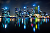 Marina Bay in Blue