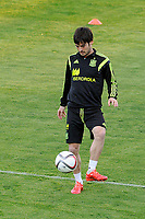 Spanish National Team's  training at Ciudad del Futbol stadium in Las Rozas, Madrid, Spain. In the pic: David Silva. March 25, 2015. (ALTERPHOTOS/Luis Fernandez)