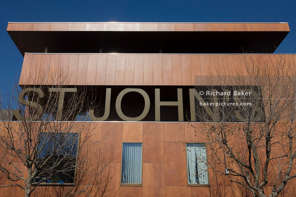 Exterior of the NHS St John's therpay centre on St John's Hill, Battersea. Opened in February 2007, St John's Therapy Centre brings together community-based Therapy services, a Mental Health unit and two GP practices.