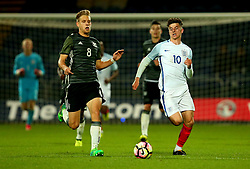 Mason Mount of England goes past Arne Maier of Germany Under 19s - Mandatory by-line: Robbie Stephenson/JMP - 05/09/2017 - FOOTBALL - One Call Stadium - Mansfield, United Kingdom - England U19 v Germany U19 - International Friendly
