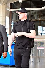 Wayne Rooney arrives back in Barbados from Washington - 25 May 2018